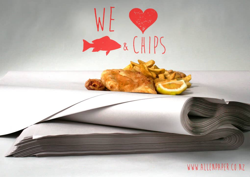 Newsprint used to wrap fish and chips produced by Allen Paper