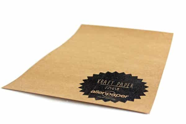 Kraft Paper sheets from Allen Paper