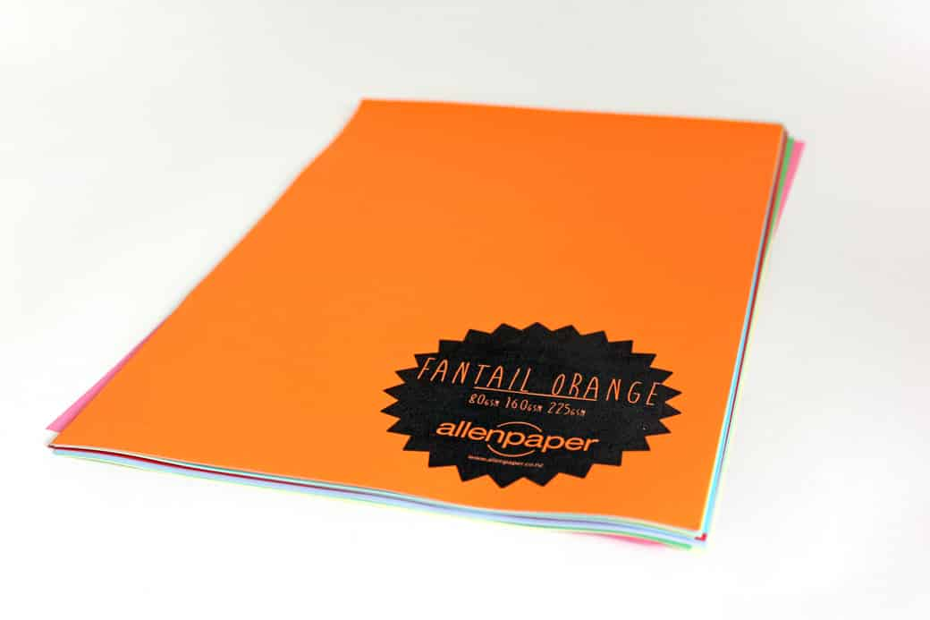 Fantail Orange - Kaskad Coloured Paper