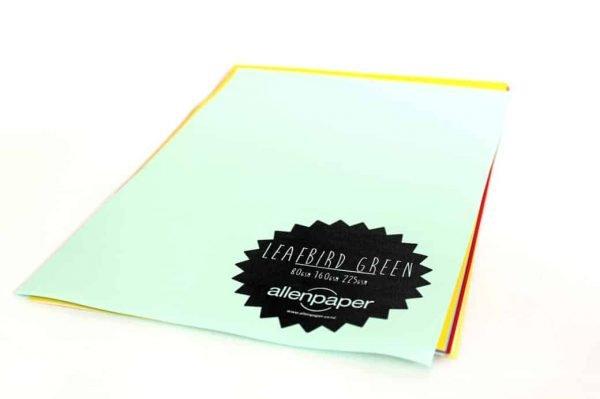 Leafbird Green - Kaskad Coloured Paper