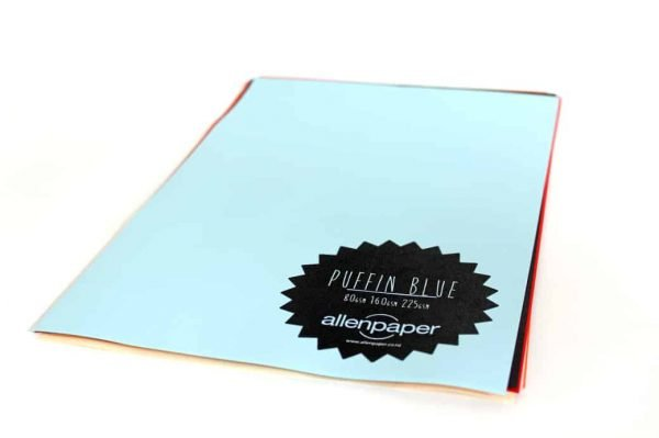 Puffin Blue - Kaskad Colored Paper From Allen Paper