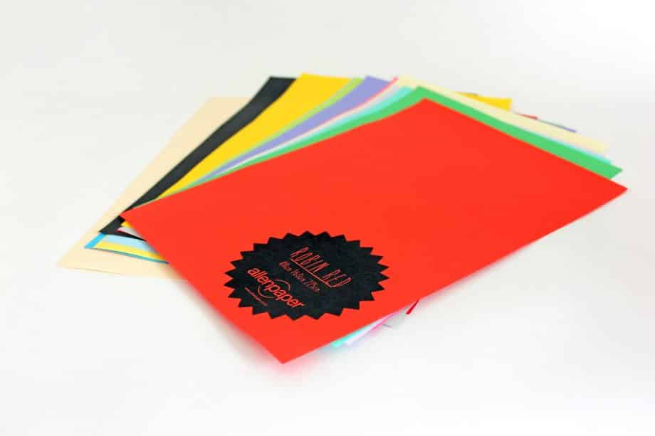 Colored Paper from Allen Paper