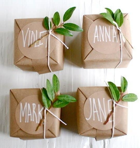 stylish simplicity kraft paper gift wrapping ideas blog allen paper